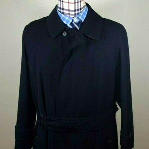 BURBERRY LONDON BLACK POLYESTER TRENCH COAT 38S